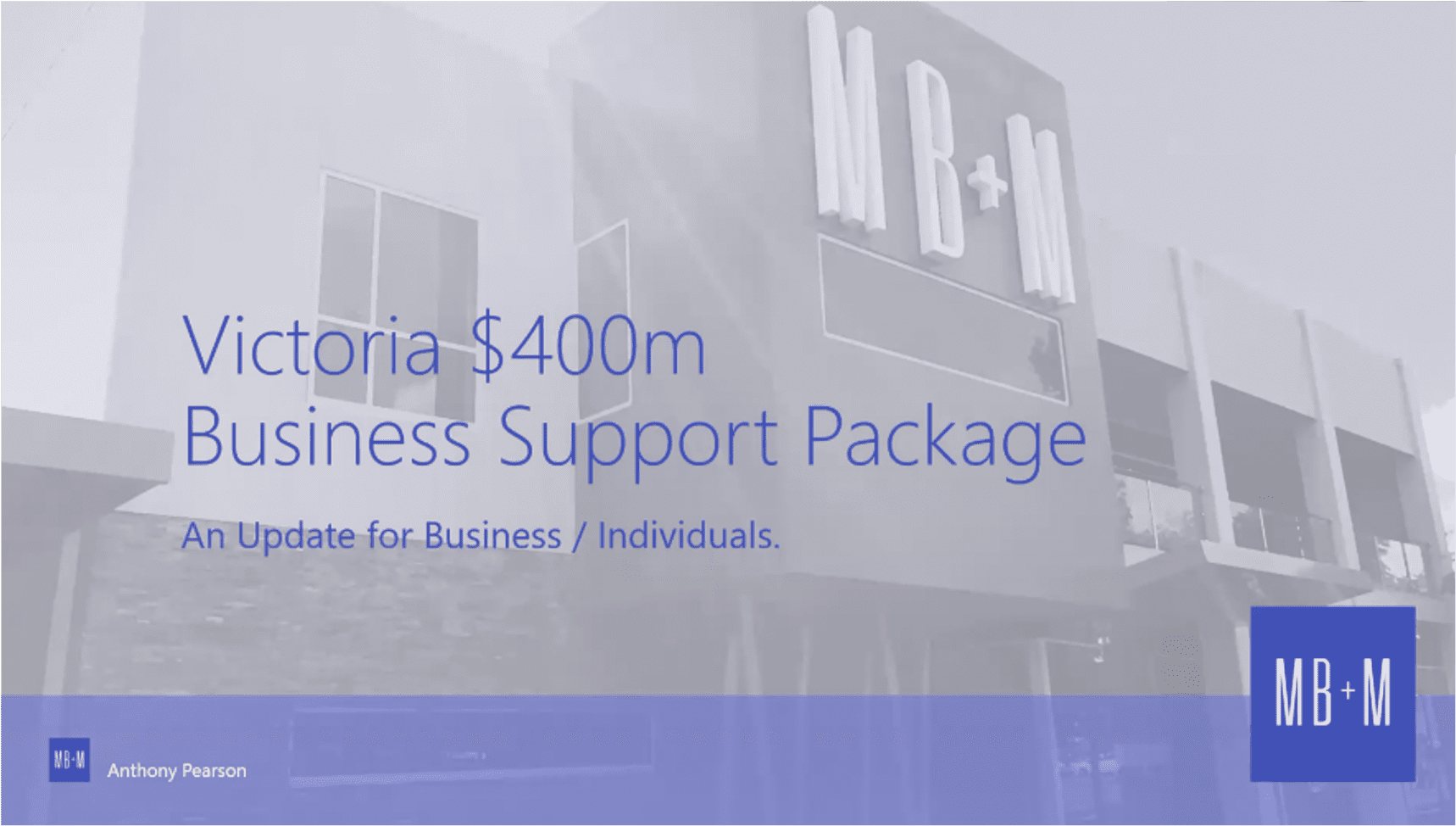 Victoria $400m Business Support Package
