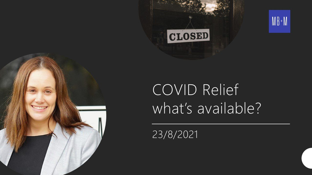 COVID Relief – what's available?
