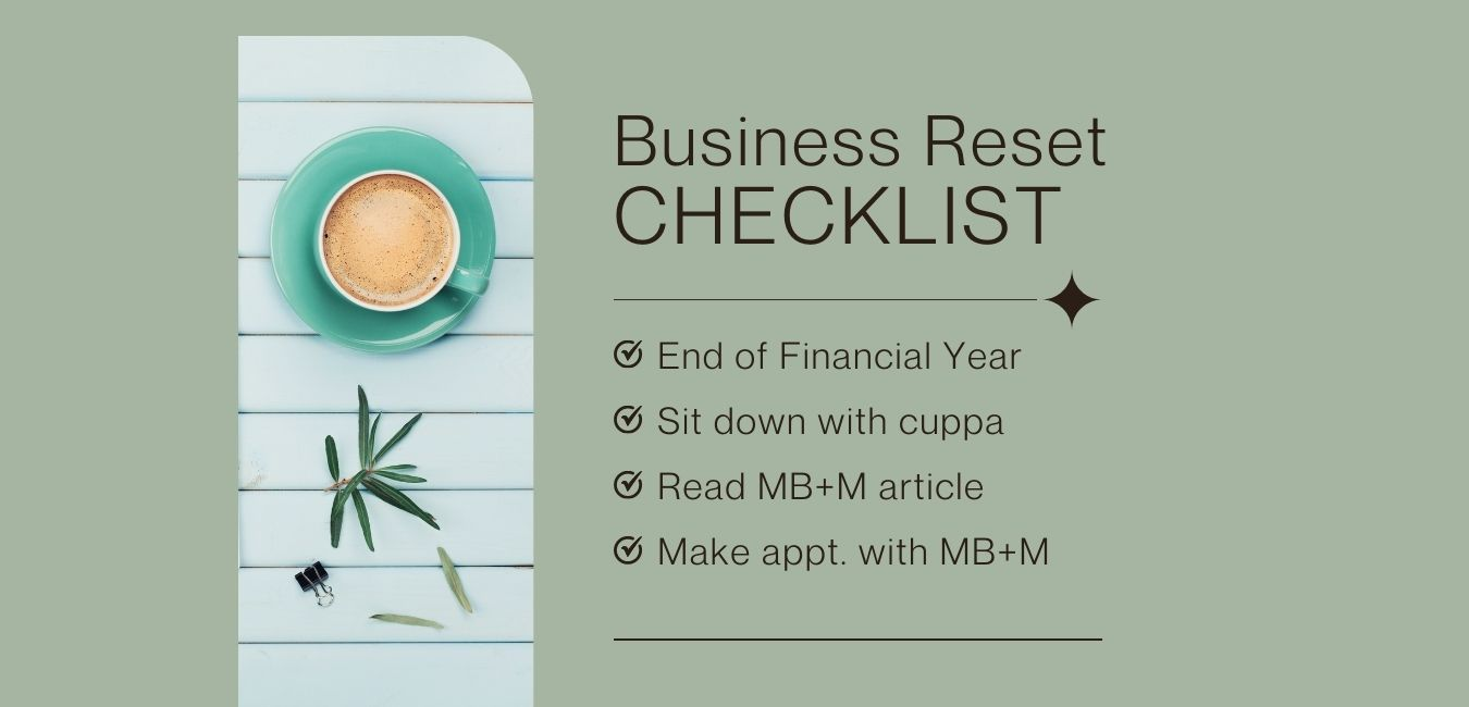 Business reset – let's tick some boxes